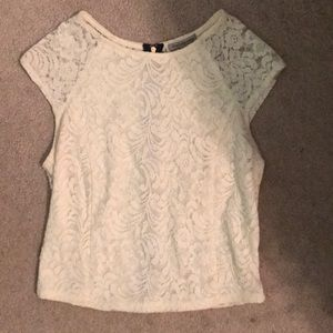 Lace zip down shirt